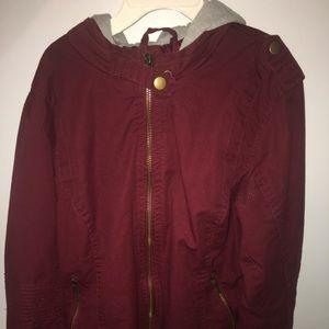 Jackets & Blazers - Burgundy/red zip up jacket